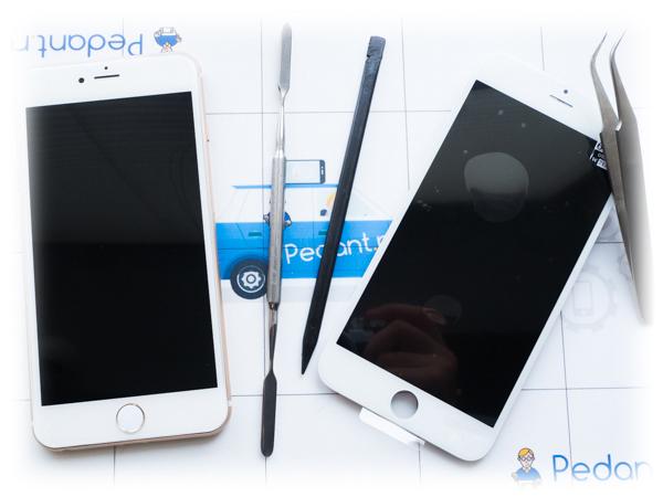 Поменять стекло на iPhone 6 плюс за 15 минут